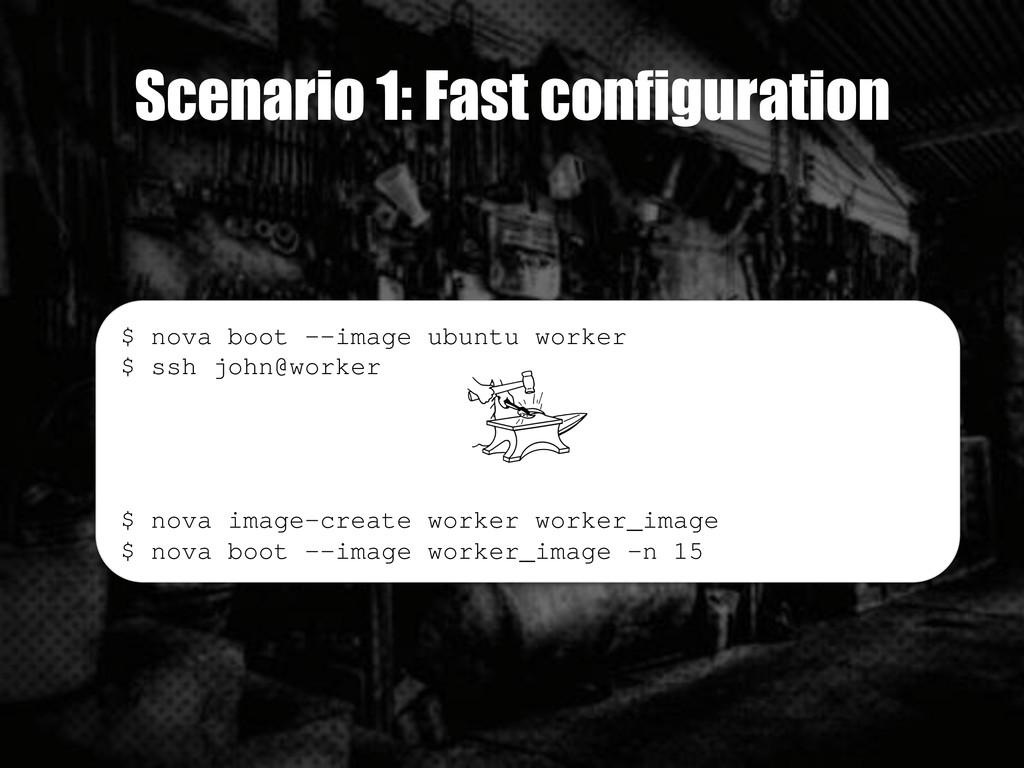 Scenario 1: Fast configuration $ nova boot --im...