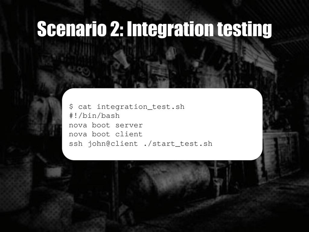 Scenario 2: Integration testing $ cat integrati...