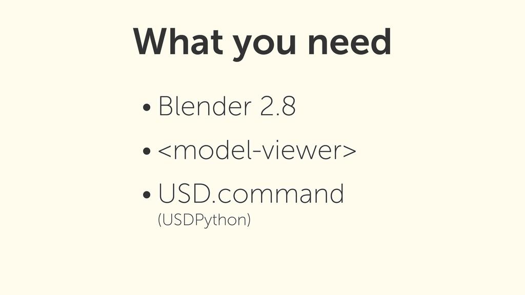 • Blender 2.8 • <model-viewer> • USD.command (...