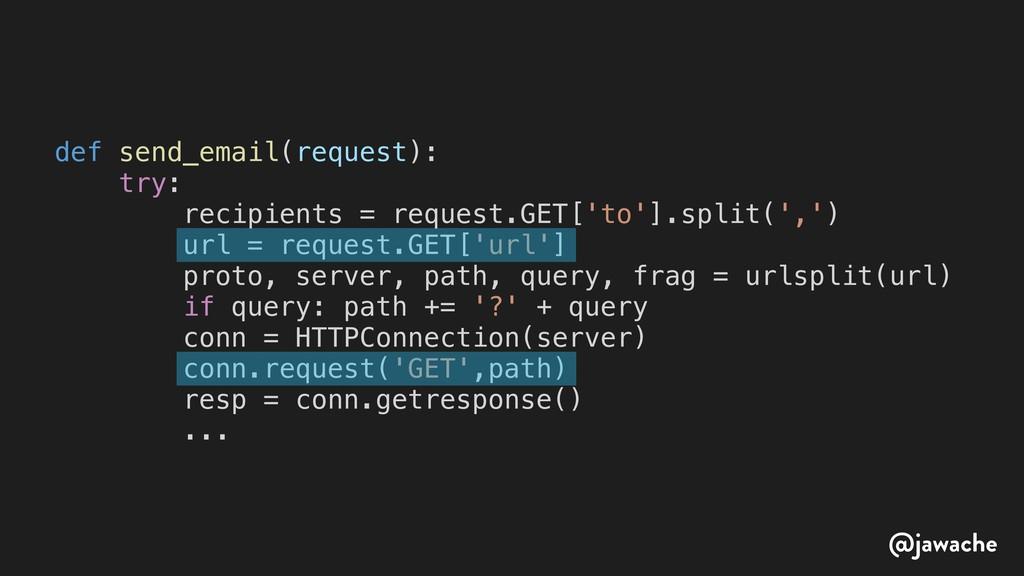 def send_email(request): try: recipients = requ...