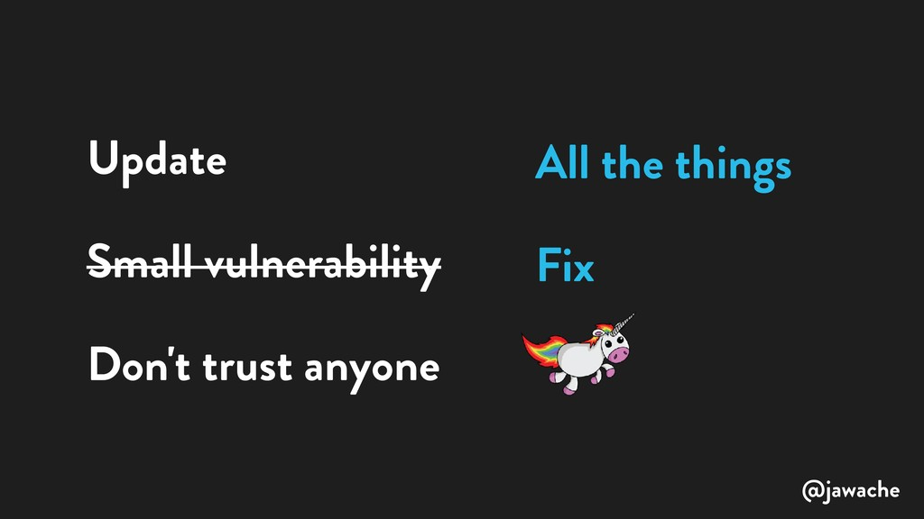 Update Small vulnerability Don't trust anyone A...