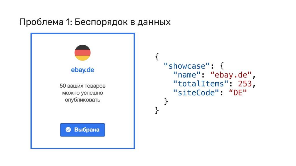 """{ """"showcase"""": { """"name"""": """"ebay.de"""", """"totalItems""""..."""