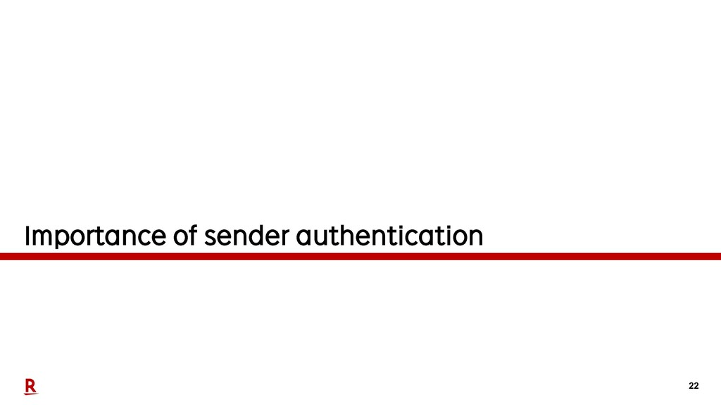 22 Importance of sender authentication
