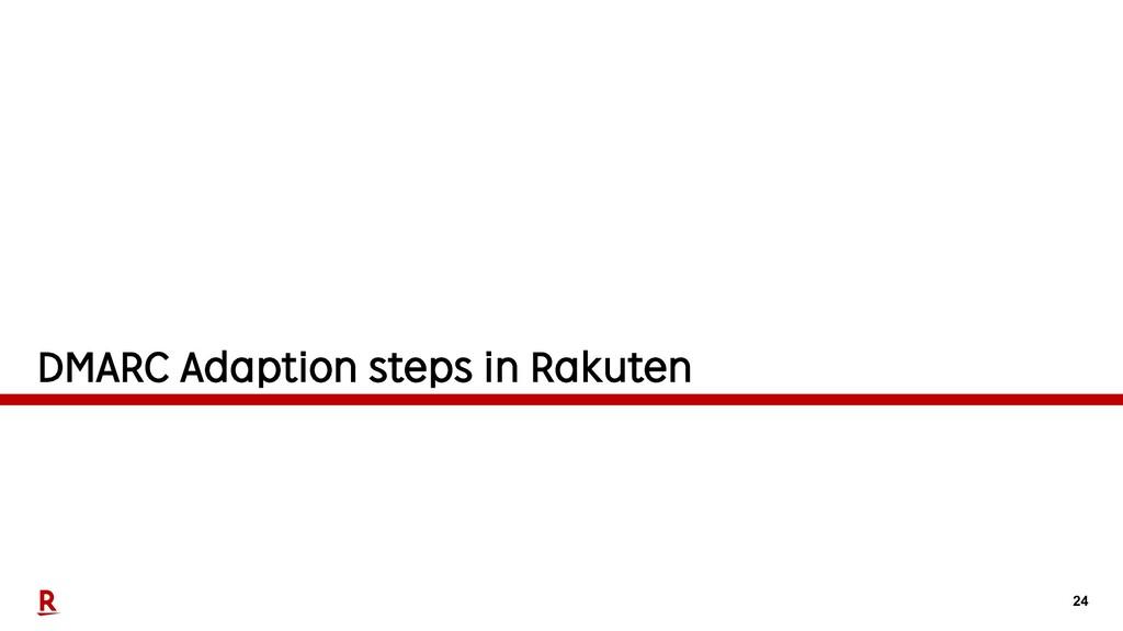 24 DMARC Adaption steps in Rakuten