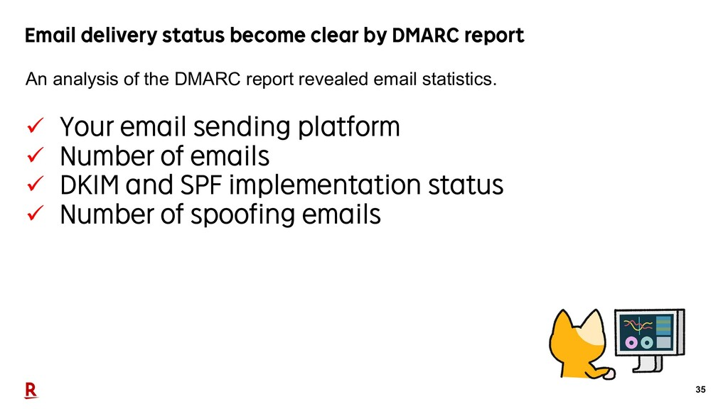 35 Email delivery status become clear by DMARC ...