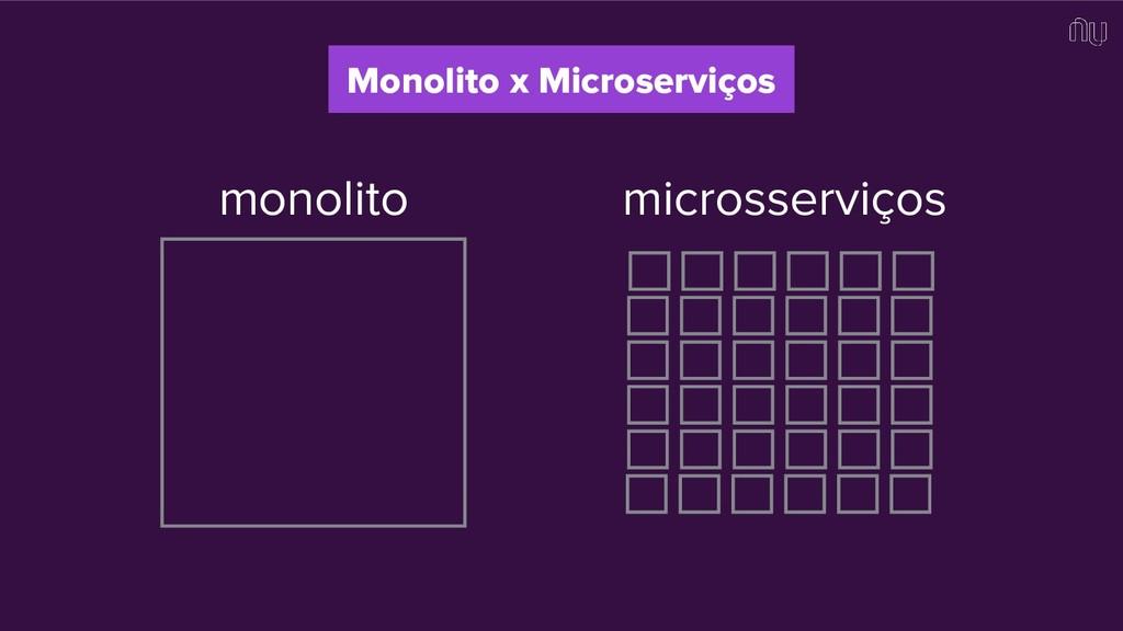 Monolito x Microserviços monolito microsserviços