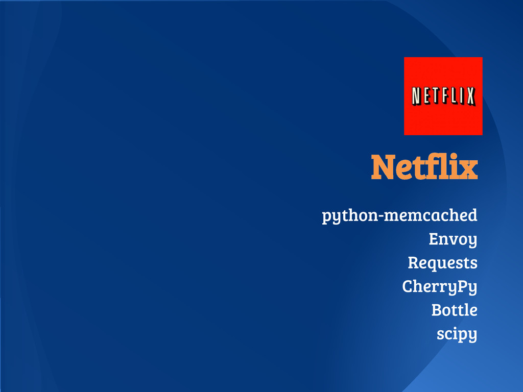 Netflix python-memcached Envoy Requests CherryP...