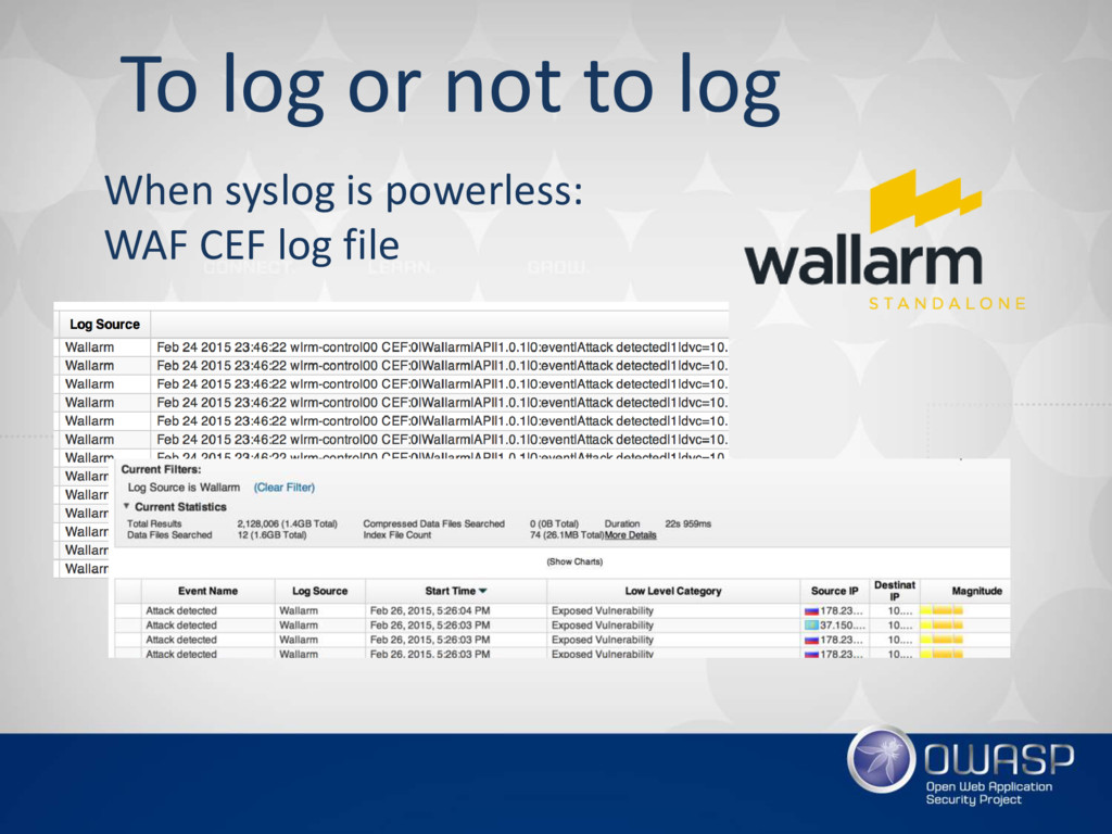 To log or not to log When syslog is powerless: ...