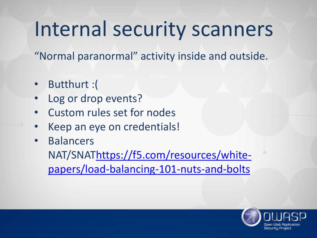 """Internal security scanners """"Normal paranormal"""" ..."""