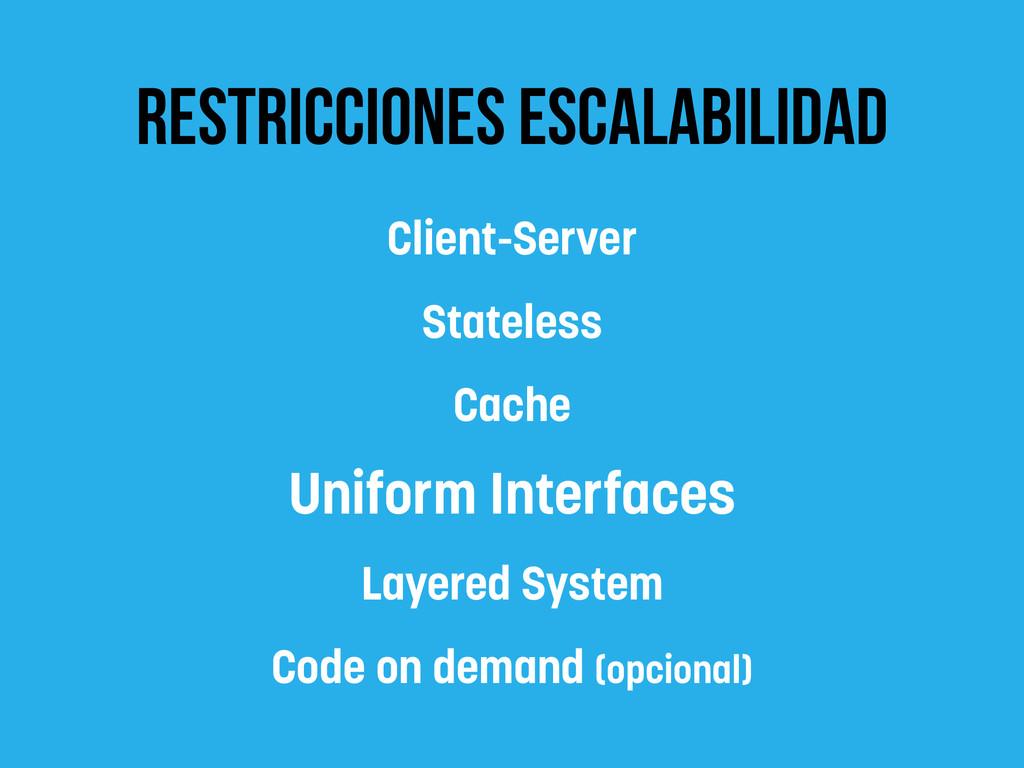 restricciones escalabilidad Client-Server State...