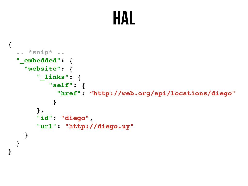 """HAL { .. *snip* .. """"_embedded"""": { """"website"""": { ..."""