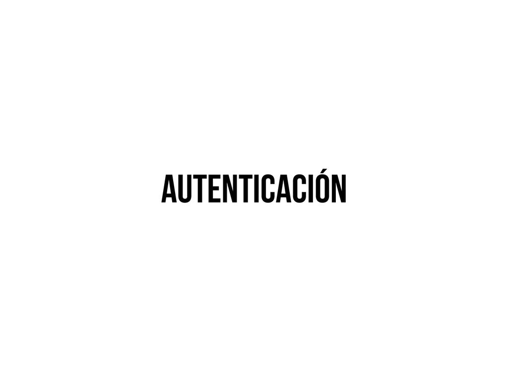 autenticación