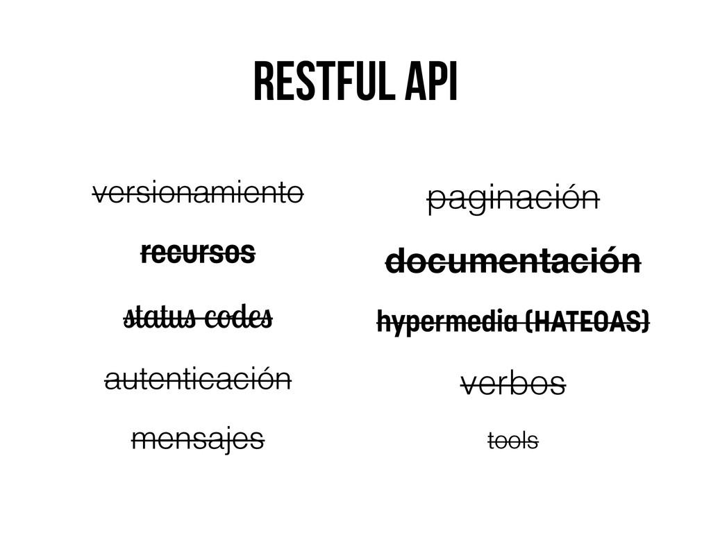Restful api versionamiento recursos status code...