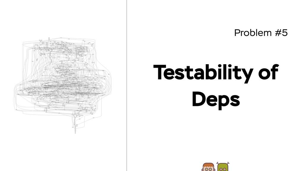 Problem #5 Testability of Deps