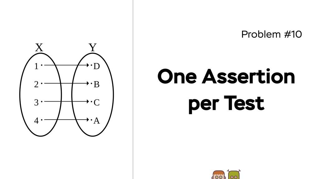 Problem #10 One Assertion per Test