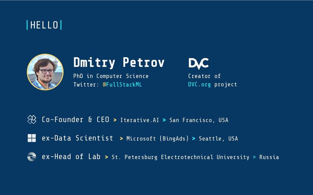 Co-Founder & CEO > Iterative.AI > San Francisco...