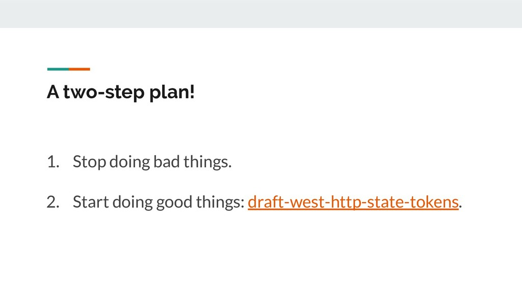 A two-step plan! 1. Stop doing bad things. 2. S...