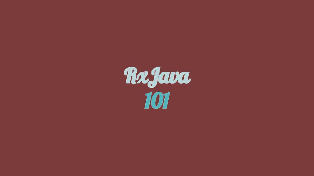 RxJava 101