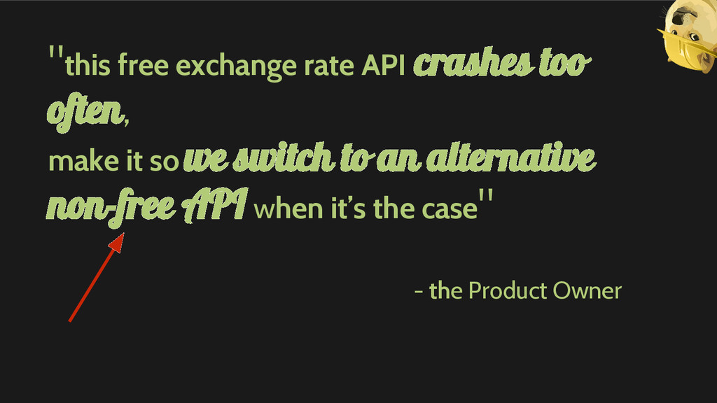"""this free exchange rate API crashes too often,..."