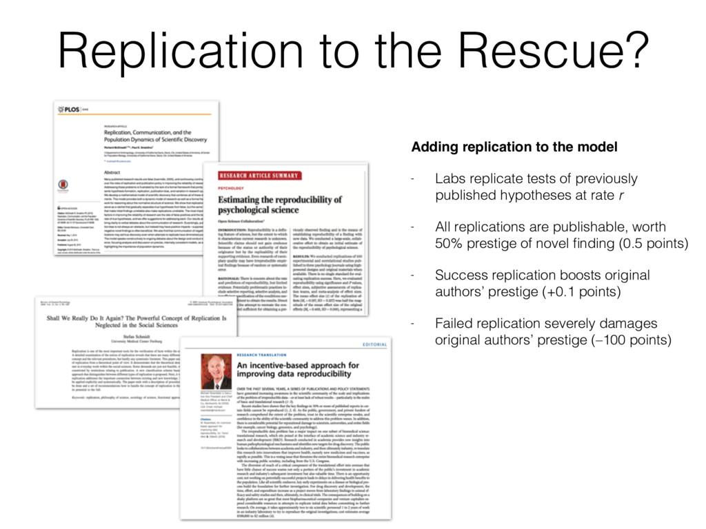 Replication to the Rescue? Adding replication t...