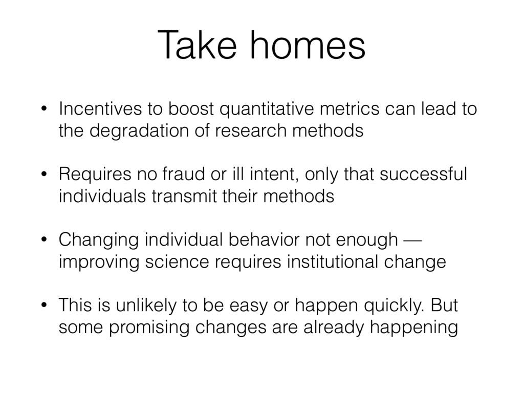 Take homes • Incentives to boost quantitative m...
