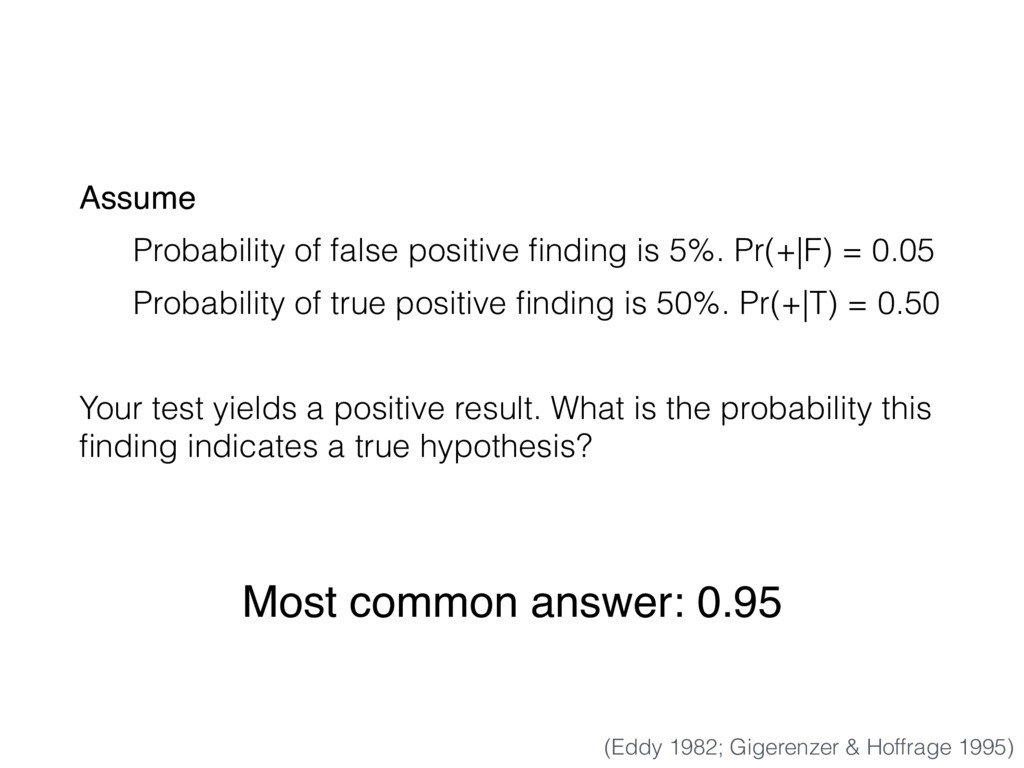 Assume Probability of false positive finding is ...