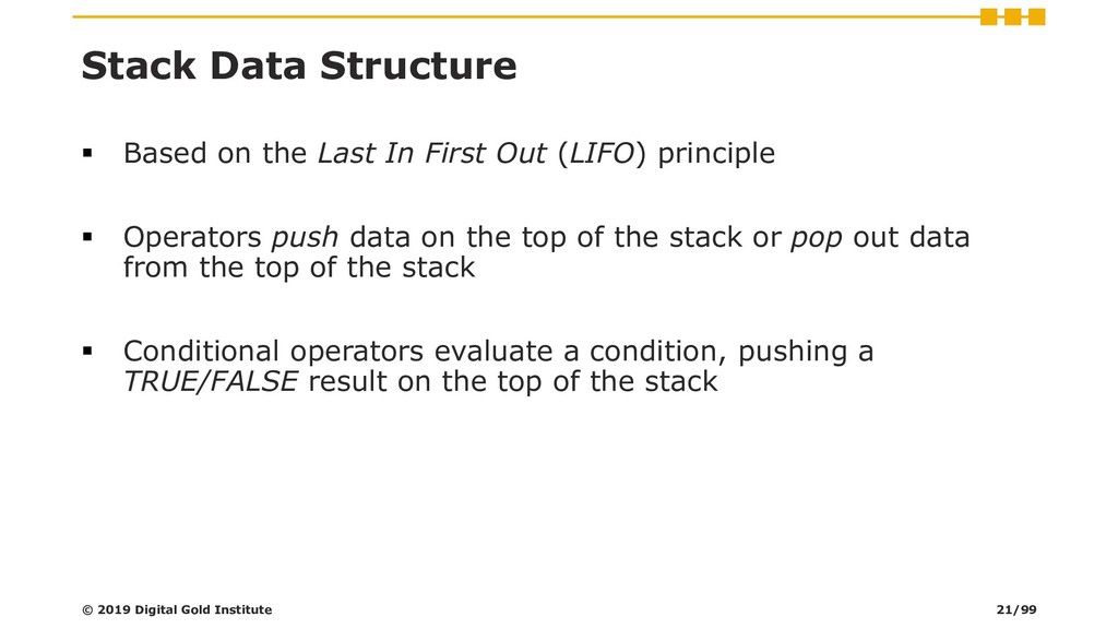 Stack Data Structure ▪ Based on the Last In Fir...