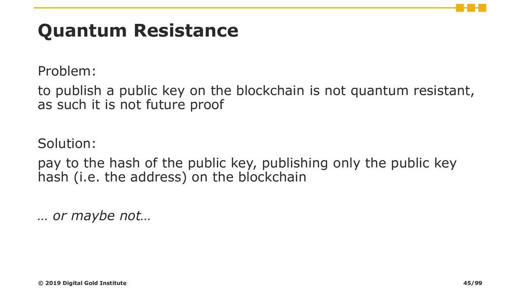Quantum Resistance Problem: to publish a public...