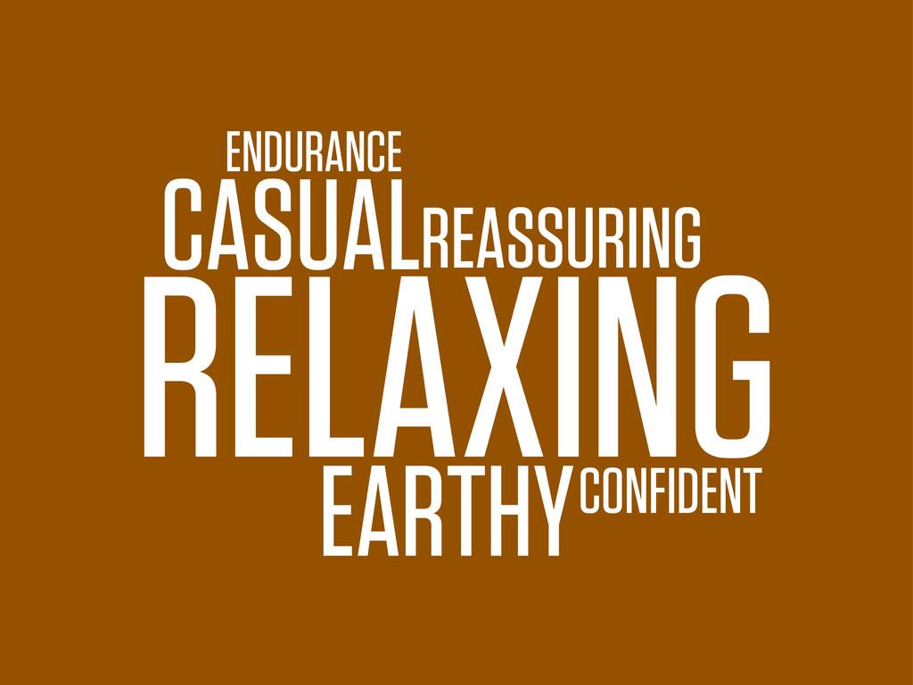 RELAXING ENDURANCE CONFIDENT CASUALREASSURING E...