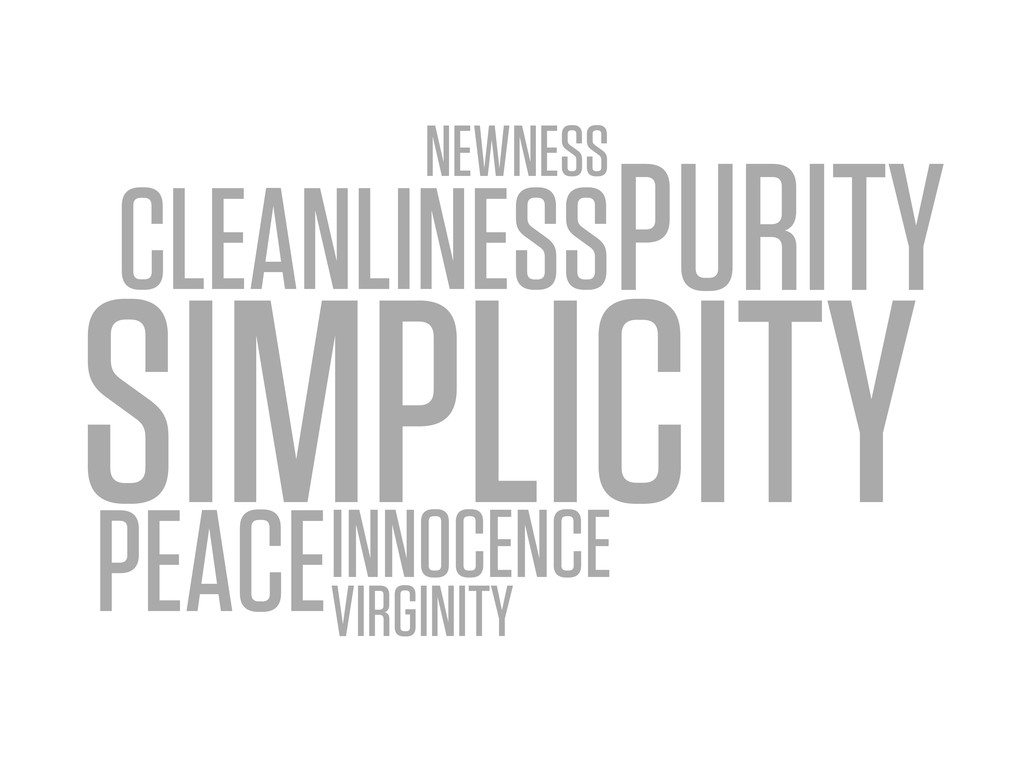 SIMPLICITY CLEANLINESSPURITY NEWNESS VIRGINITY ...