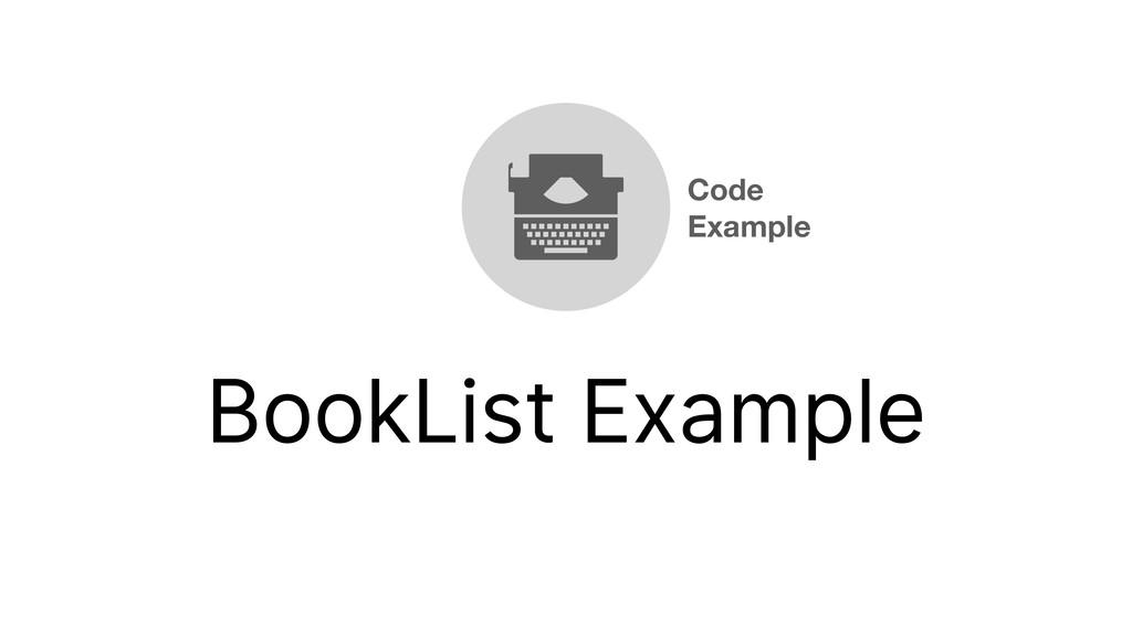 BookList Example Code Example