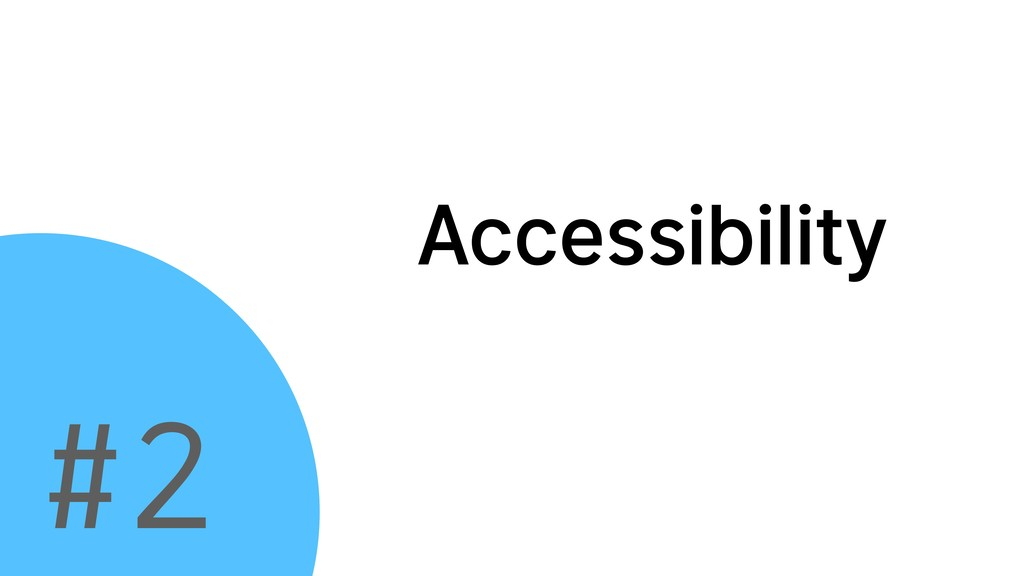 Accessibility #2