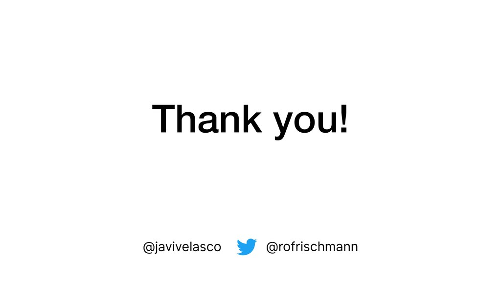 Thank you! @rofrischmann @javivelasco