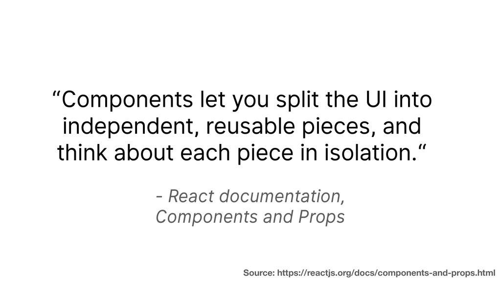 - React documentation,