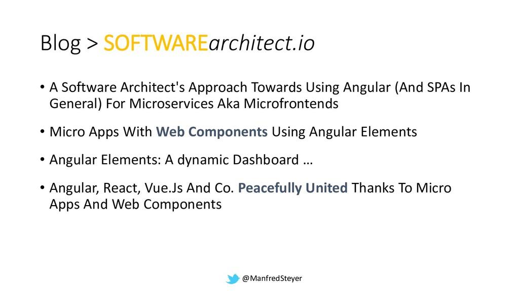 @ManfredSteyer Blog > SOFTWAREarchitect.io • A ...