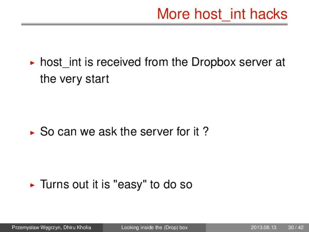 More host_int hacks host_int is received from t...