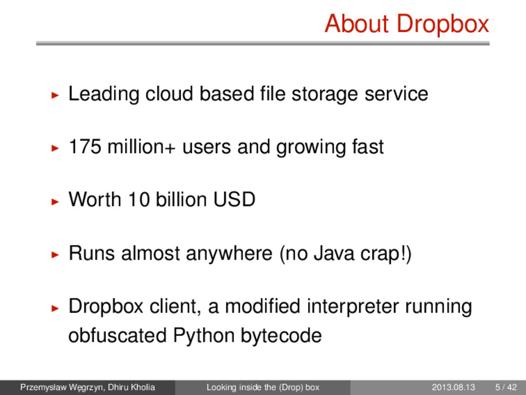 About Dropbox Leading cloud based file storage s...