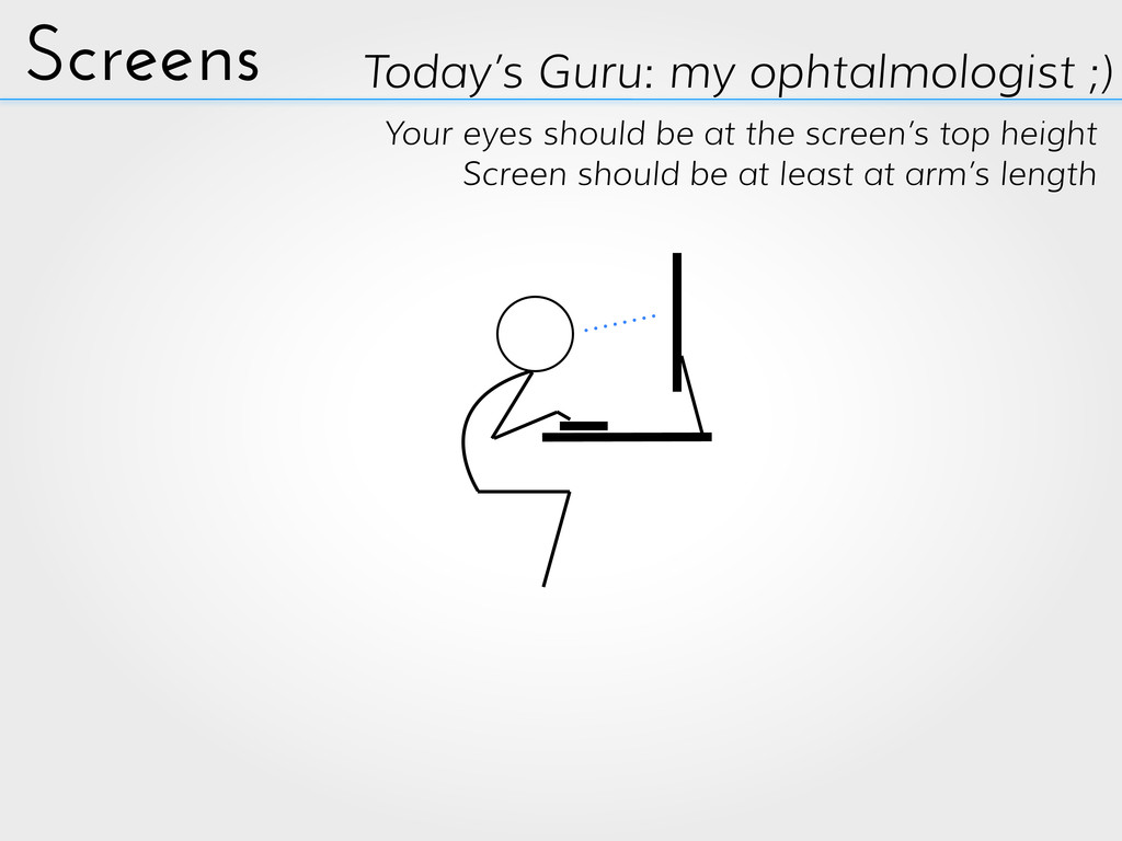 Screens Today's Guru: my ophtalmologist ;) Your...