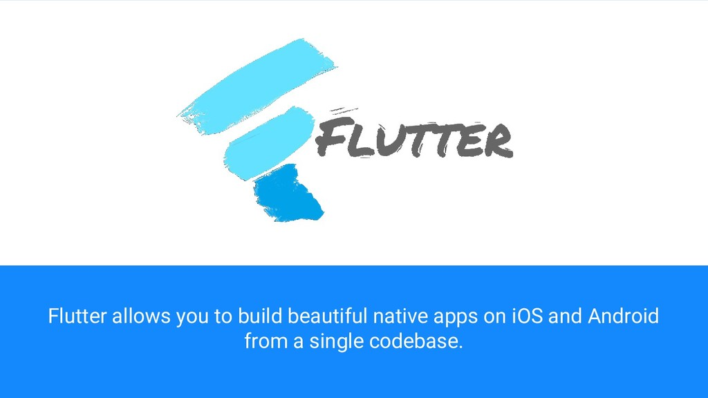 Flutter allows you to build beautiful native ap...