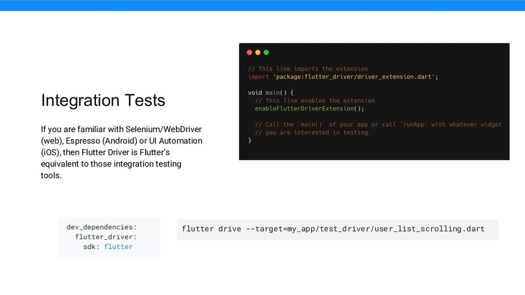 Integration Tests If you are familiar with Sele...