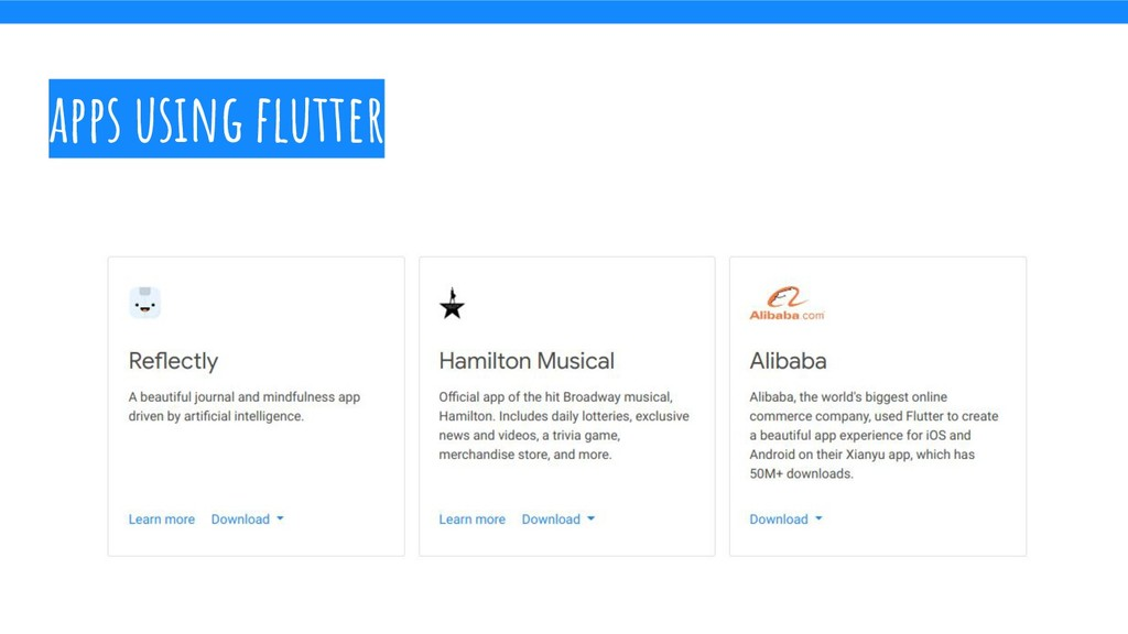apps using flutter