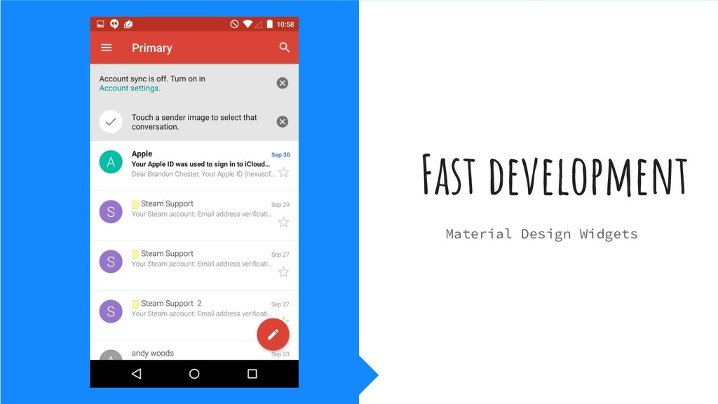 Fast development Material Design Widgets
