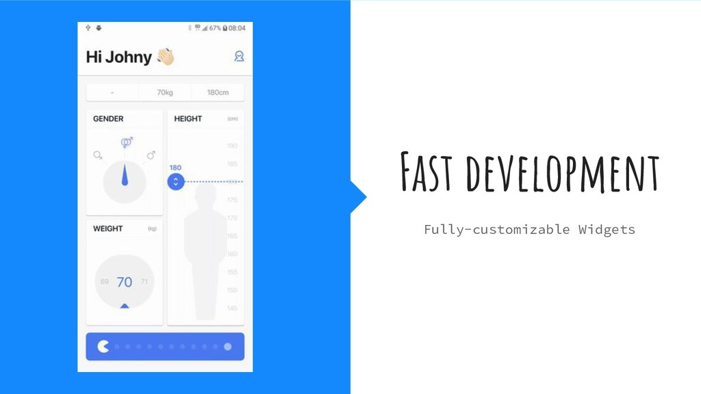Fast development Fully-customizable Widgets