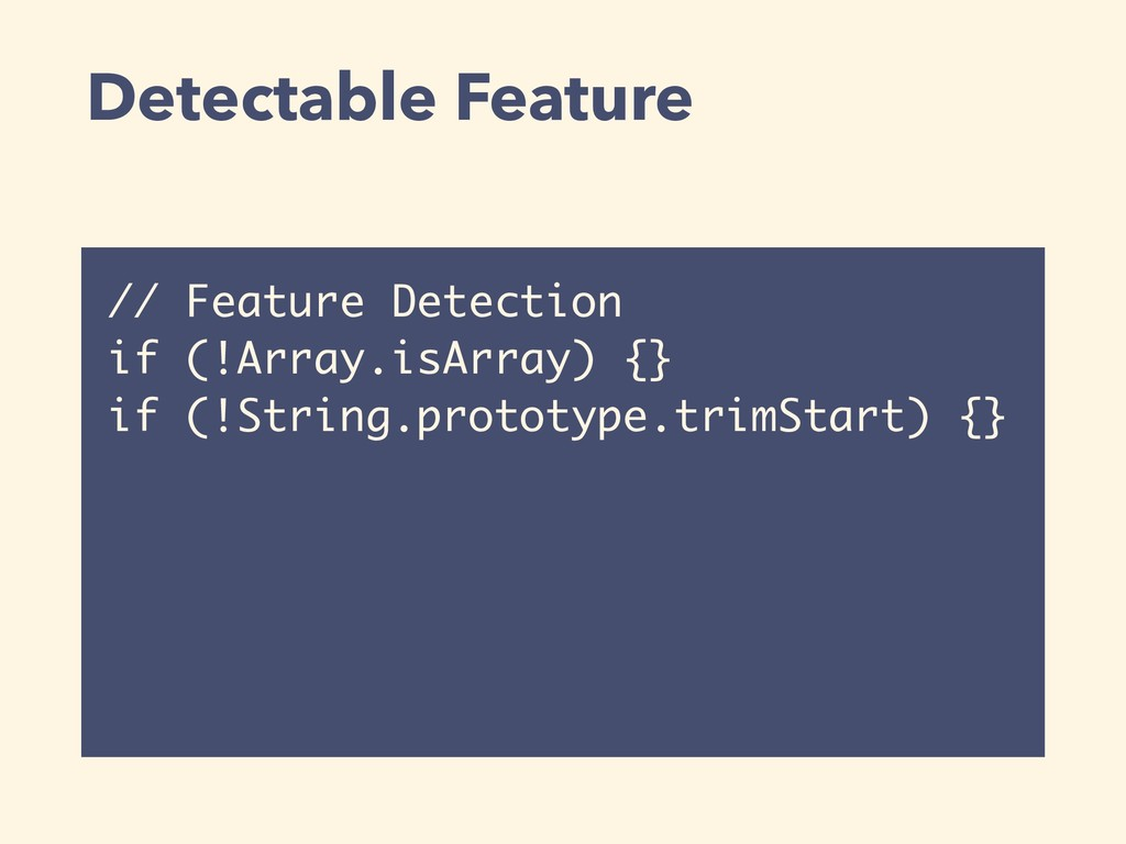Detectable Feature // Feature Detection if (!Ar...