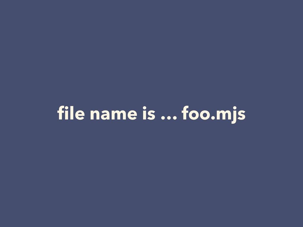 file name is … foo.mjs