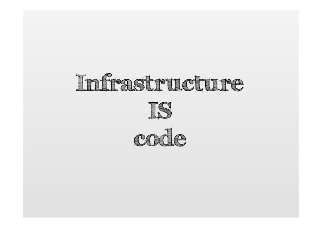 Infrastructure IS code