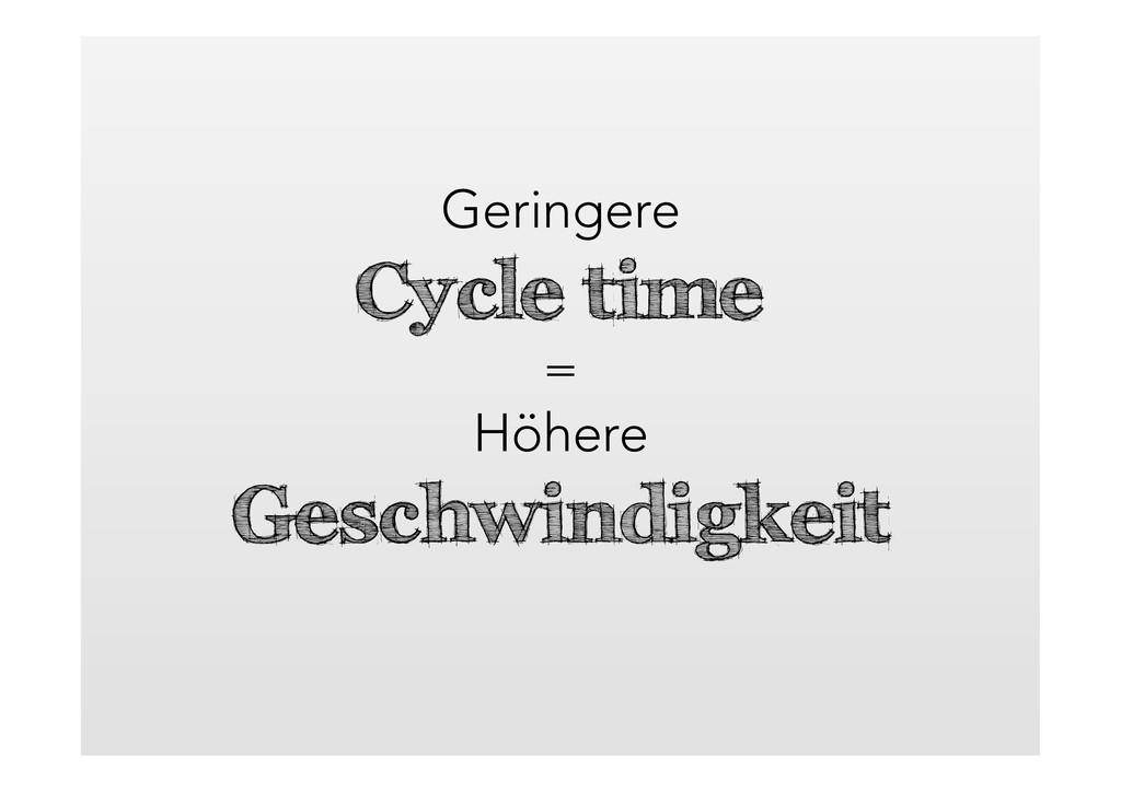 Geringere Cycle time = Höhere Geschwindigkeit
