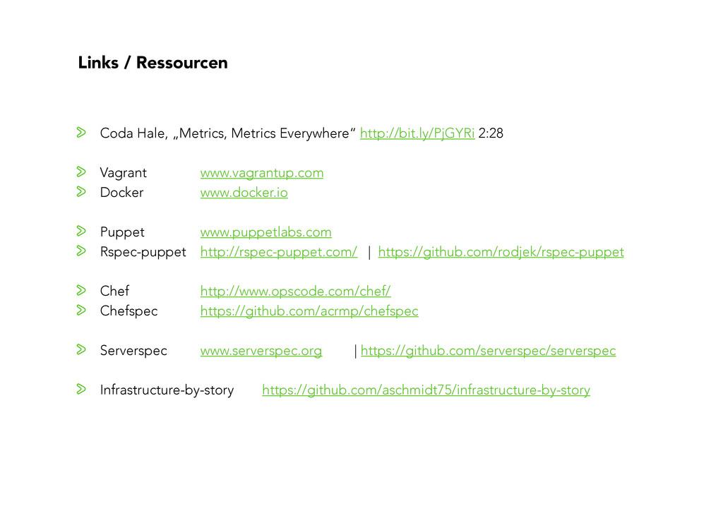 """Links / Ressourcen """" Coda Hale, """"Metrics, Metr..."""