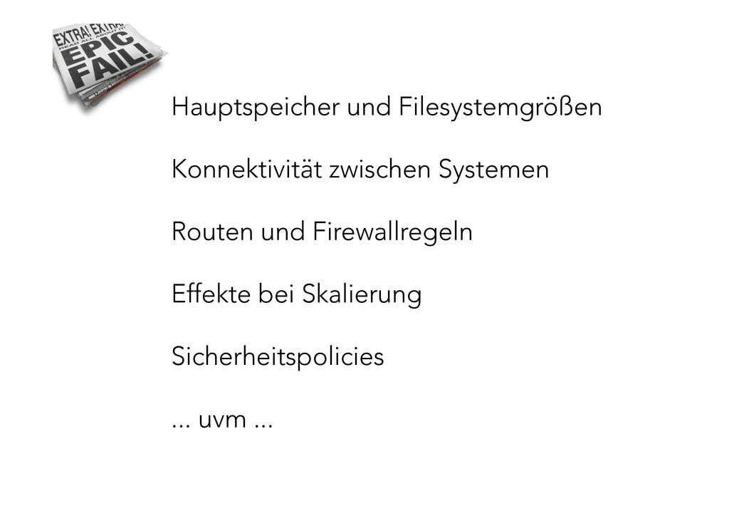 Hauptspeicher und Filesystemgrößen  Konnekt...