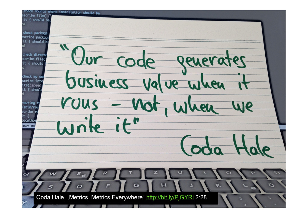 "Coda Hale, ""Metrics, Metrics Everywhere"" http:/..."